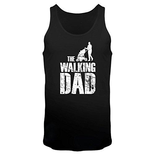 FABTEE The Walking Dad - Tank Top Träger Shirt Männer, Größe:M, Farbe:Schwarz