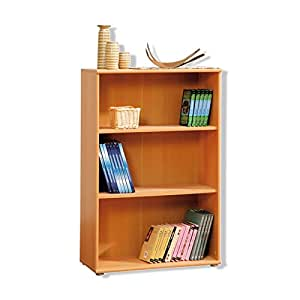 Tempra Short Narrow Beech Bookcase Bookshelf Home Office Furniture Kr50 127