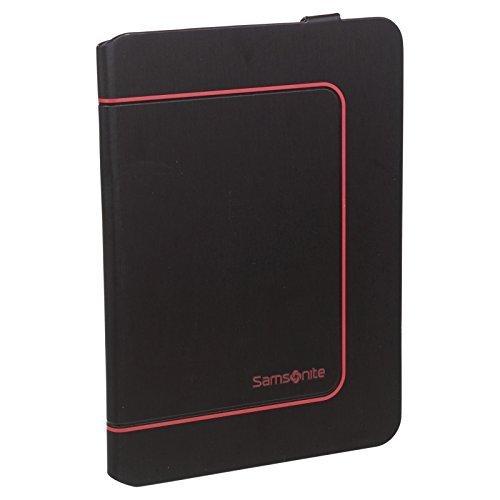 Samsonite Samsung Tab Tablet Hülle Schutzhülle Magnetische Schließung Schwarz - Rot Getrimmt, Galaxy Tab 3 (7
