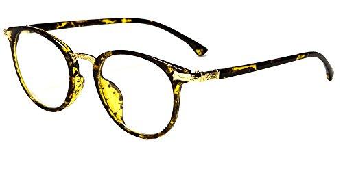 amashades Vintage Nerdies Nostalgisches Brillengestell Nerdbrille Damen Herren Pantobrille Klarglas...