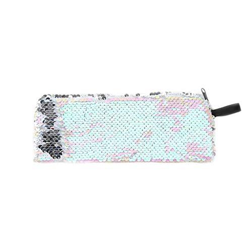 Bhty235,Stifteetui, modische Pailletten, für Damen, Kosmetiktasche, Bleistiftbox, Münzbörse rose