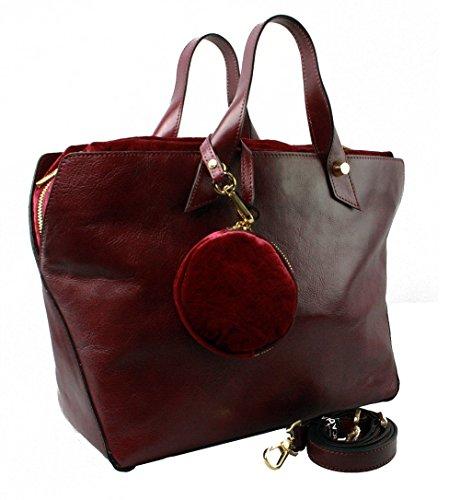 Arcadia, Borsa a mano donna rosso Rot Rot