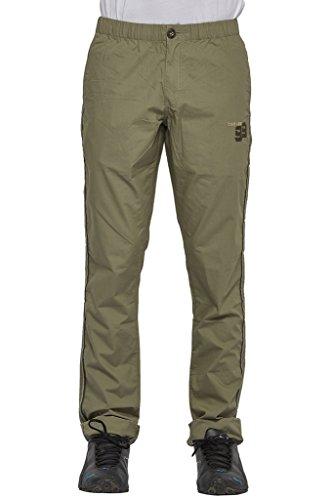 Beevee-100-Cotton-Solid-Light-Olive-Elasticated-Pyjama
