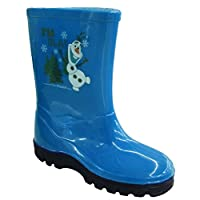 Kids High-Top Welly Wellington Rainy Snow Printed Boots
