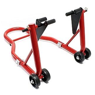 Soporte para la rueda delantera de la motocicleta 450kg dispositivo elevación taller