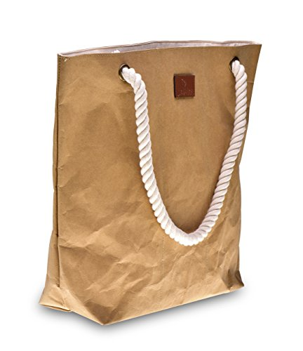 lila Tulpe - Shopper Holly - hochwertige Damen Handtasche / Schultertasche / Einkaufstasche aus waschbaren Papier mit Lederoptik / veganes Leder / leicht, reißfest und wasserbeständig - 2