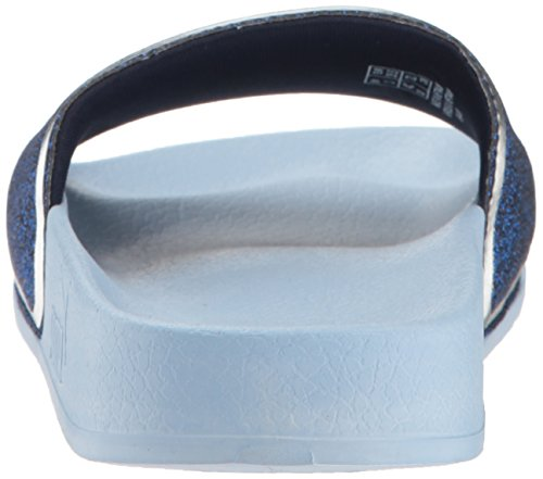 PUMA Unisex-Kids Leadcat Glow Slide Sandal  Cerulean-Peacoat Silver  6 M US Big Kid