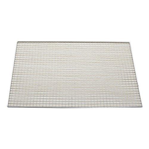 Huaxiong Squares 50 cm x 30 cm metallo argento tono rettangolo Fori grigliatura Barbecue rete metallica
