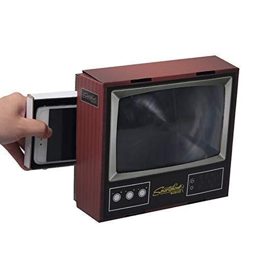 WUYEA DIY Retro-TV-Form Bildschirmlupe für Mobiltelefon Handyhalter Verstärker -