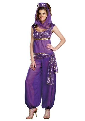 Sexy Ladies Arabian Princess Fancy Dress Costume Jasmine Bollywood Belly Dancer Size ()