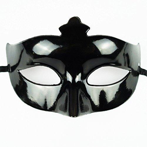 Preisvergleich Produktbild Karnevalsmaske Schwarz - Venizianische Ballmaske Partymaske Maske Karneval Fasching Party Ball Silvester