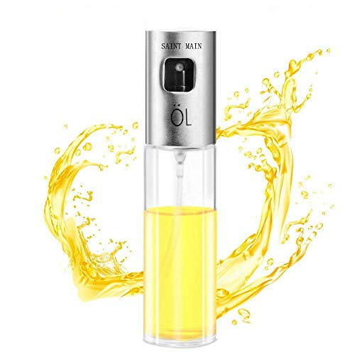 Nebulizzatore Olio Cucina in Vetro, Saint-Main Portable olive oil Sprayer dispenser per Pasta, Insalata, Padella, Griglia, Barbecue (con 2 spazzole gratis) NUOVO TIPO