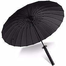KHSKX Los hombres siempre paraguas PARAGUAS paraguas creativo Super Espadas espada paraguas PARAGUAS paraguas Samurai de Sun Japón,24 cuchillas de hueso
