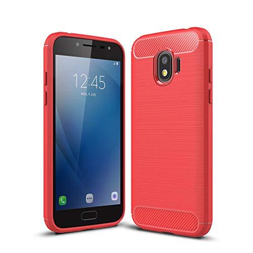 cookaR Samsung Galaxy J2 Pro (2018) hülle, Samsung Galaxy J2 Pro (2018) case Silikon Ultra Dünn Soft Silikon Schutzhülle für Samsung Galaxy J2 Pro (2018) case Cover(Rot)