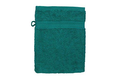 Betz. set di 10 guanti da bagno premium colore: verde smeraldo e