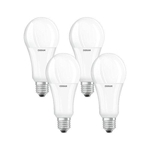 OSRAM - 4058075042926 - Ampoules LED - Forme Standard Dépolie - Culot E27 - 21W Equivalent 150W - Blanc Chaud 2700K - Lot de 4