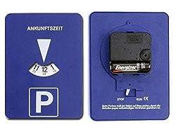 GMBH Mitlaufende Parkscheibe mit Uhrwerk elektronische Parkuhr Run Stop Schalter