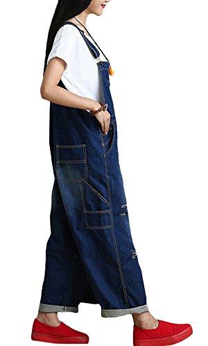 Vogstyle Damen Hosenträger Spielanzug Harem Jumpsuit Hosen Art 2 Blau
