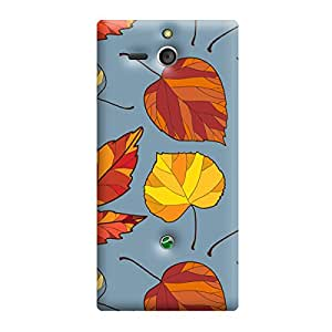 Garmor Seamless Autumn Design plastic back cover for Sony Xperia U-ST25i Autumn II-5