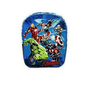 41QyY6vJOIL. SS300  - Mochila Avengers Superhéroes para la Escuela o guardería de 32 centímetros de Color Azul
