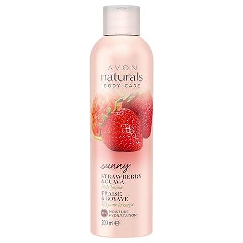 Avon Naturals Body Lotion, Strawberry and Guava 200 ml