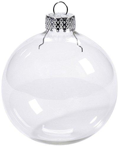 Youseexmas - confezione da 6 palle di natale in vetro, Ø 8 cm