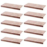 LYDB Rug Leuchtende visuelle Treppenaufstriche Protektor Mats Fußabdruck Anti-Rutsch-Falle Matte Selbstklebende Bodenaufkleber Sicherheit Kinder Teppich Home-Tip,beige