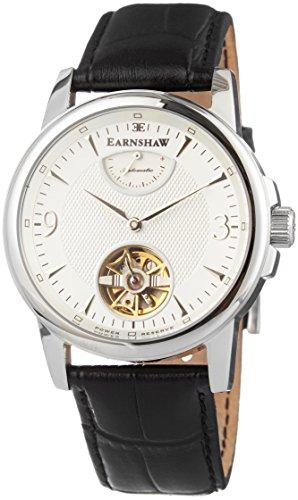 Thomas Earnshaw - ES-8014-02 - Flinders - Montre Homme - Automatique Analogique - Cadran Blanc - Bracelet Cuir Noir