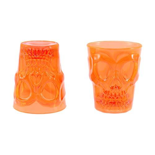 Amosfun 2 stücke Kunststoff Party Tasse Halloween Schädel Muster Wein Tasse Halloween Party Tassen Toasten Glas für Party Decor