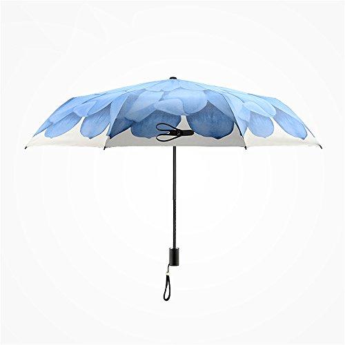Huihong Paraguas Viajes Sunscreen Anti-Ultraviolet Paraguas Paraguas Plegable de Acero Inoxidable Rack portátil Compacto Plegado Paraguas Tamaño: 28cm,Naranja