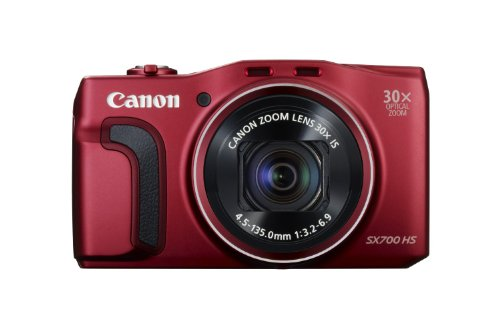Canon PowerShot SX700 HS Point and Shoot (Red) with 30x Optical Zoom