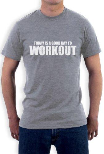 Ein guter Tag zum Workout T-Shirt Grau