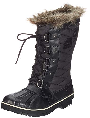 Sorel Damen Tofino Ii Schneestiefel, Schwarz (Black/Stone 010Black/Stone 010), 38.5 EU - Schwarz Pu Lace Up Stiefel