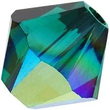 Cristal de SWAROVSKI 5328 tupis 6 mm (20) AB esmeralda