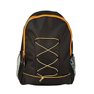 Milestone Camping Unisex's Milestone 2-Strap Walking Hiking Trekking School Ruck Sack Day Bag-Black, 45 x 34 x 15 cm