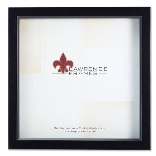 Lawrence Frames 795010 Black Wood Treasure Box Shadow Box Picture Frame, 10 by 10-Inch -