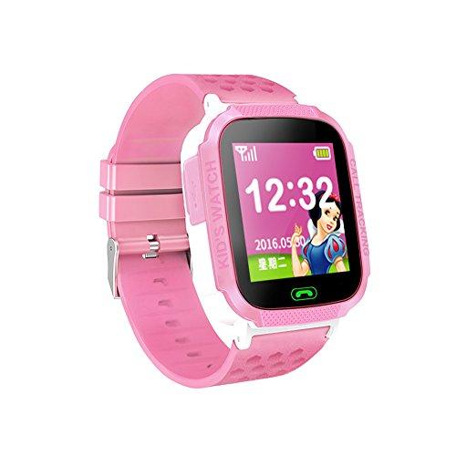 Smart Watch poignet étanche sports podomètre activité Fitness tracker pour iOS Android Homme Femme Enfants smart watch GSM bidirectionnelle appel SOS Appel à distance écran W16 enfant localisation écran tactile rose