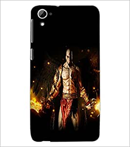 PrintDhaba Warrior D-2123 Back Case Cover for HTC DESIRE 826 (Multi-Coloured)