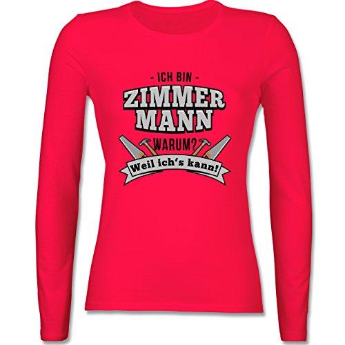 Handwerk - Ich bin Zimmermann - tailliertes Longsleeve / langärmeliges T- Shirt für Damen Rot