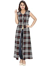 Franclo women's Chequred full length Dress