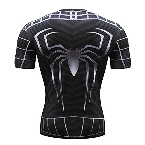 ider-Man Spiderman 3D Print T Shirts Männer Compression Fitness Shirts Superhelden Tops Marvel Kostüm Kurzarm Fitness Crossfit T-Shirts Cosplay Und Themenparty C-XXL,B Medium ()