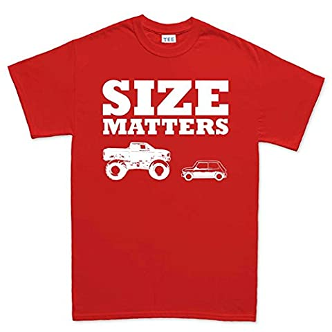 Size Matters - Cars, Mini, Monster Truck T Shirt (Tee) 5XL Red