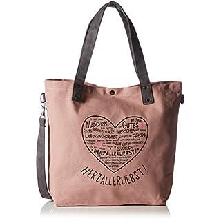Adelheid Herzallerliebst Einkaufstasche 11250155922 Damen Shopper 44x39x10 cm (B x H x T), Pink (altrosa 612 612)