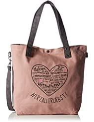 Adelheid Herzallerliebst Einkaufstasche 11260156514 Damen Shopper 44x39x10 cm (B x H x T)