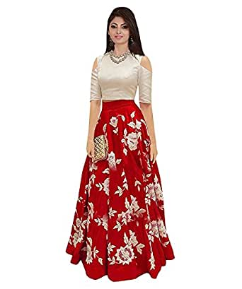 f50387c90e94 Amazon.in  Silk - Lehenga Cholis   Ethnic Wear  Clothing   Accessories