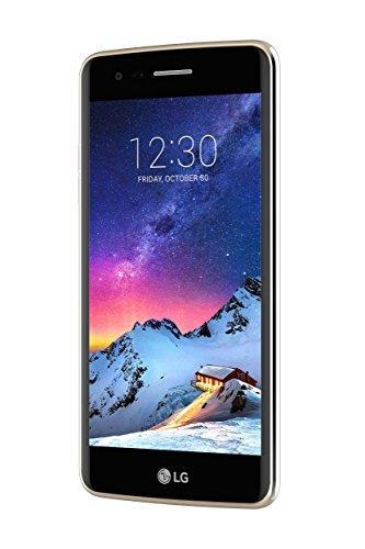 LG K8 2017 Smartphone 4G LTE, Schermo HD da 5 pollici, Fotocamera da 13 MP, Processore Quad Core da 1.4 GHz Qualcomm Snapdragon, 1.5 GB di RAM, 16 GB di Memoria Interna espandibile fino a 32 GB, 2500 mAh di Batteria, Oro [Italia]