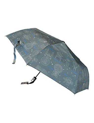 Star Trek Parapluie Pliable avec Motifs vaisseaux spatiaux - Produit Officiel agréé créé par LOVARZI