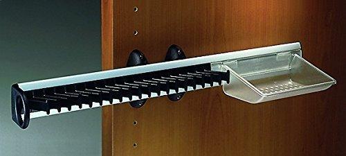wattenhalter Gürtelhalter mit Schale für 20 Krawatten | links und rechts verwendbar | Modell Servetto | BxTxH= 505 x 120 x 82 mm | geprüfte Markenqualität (Kleider Mit Rosetten)
