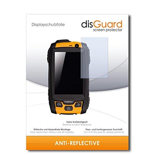 disGuard® Bildschirmschutzfolie [Anti-Reflex] kompatibel mit RugGear RG500 [4 Stück] Entspiegelnd, Matt, Antireflektierend, Extrem Kratzfest, Anti-Fingerabdruck - Panzerglas Folie, Schutzfolie