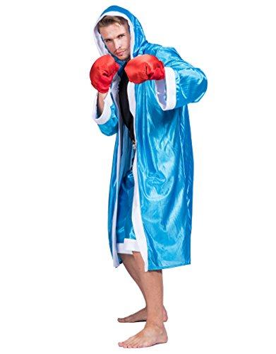 Boxen Kostüme (EraSpooky Herren American Boxershorts Kostüm Boxing Sport Kostüm)